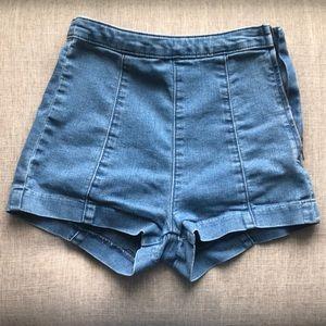 H&M High Waisted Shorts w/ Side Zipper